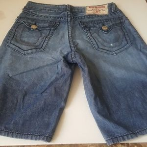 True Religion Surf Jean Shorts in size 32.